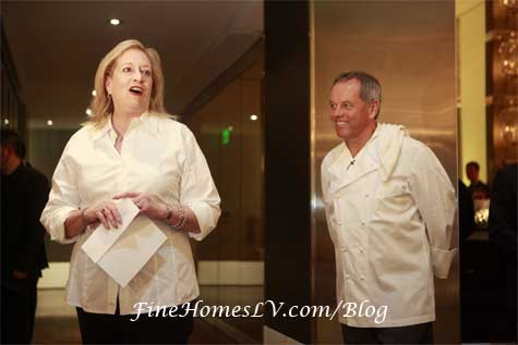 Barbara Fairchild and Chef Wolfgang Puck