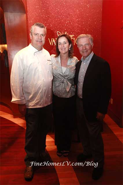 Chef Luciano Pellegrino, Sarah Tenaglia and Piero Selvaggio