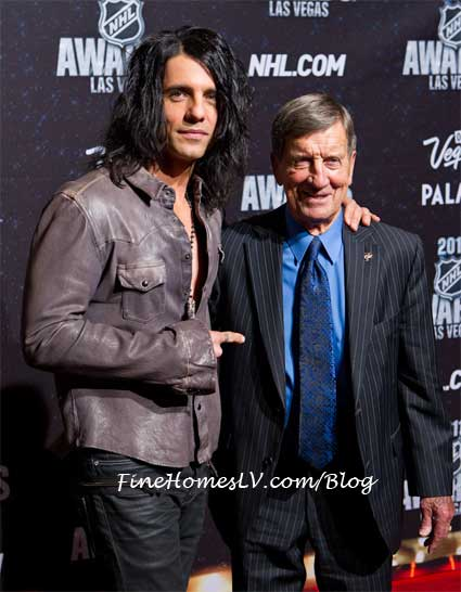 Criss Angel and Ted Lindsay