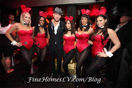 Matt Goss and Playboy Bunnies