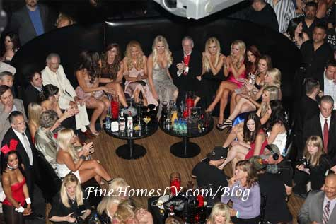 Hugh Hefner and Playboy Playmates