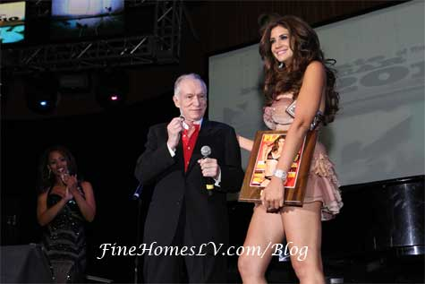 Hugh Hefner and Hope Dworaczyk