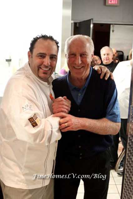 Chef Barry Dakake and Fred Biletnikoff