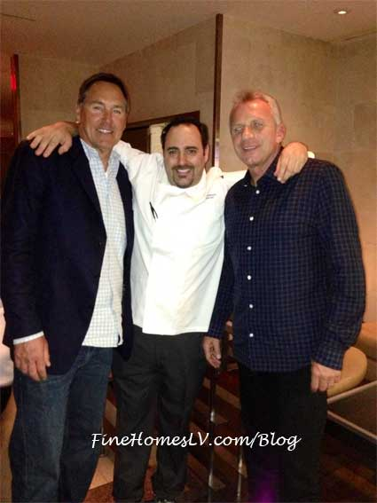 Dwight Clark, Chef Dakake and Joe Montana