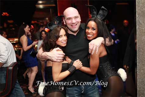 UFC President Dana White and Playboy Bunnies