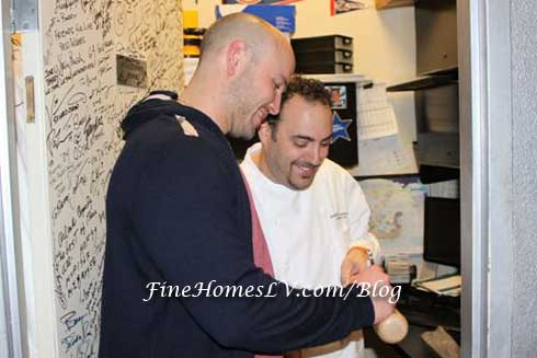 Matthew Holliday and Chef Barry
