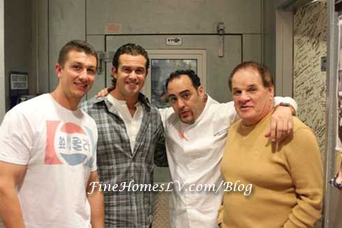 Troy Tulowitzki, Evan Longoria, Chef Barry and Pete Rose