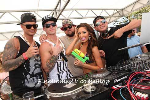 DJ Pauly D, Farrah Abraham and Chumlee At Palms Pool At Ditch Fridays