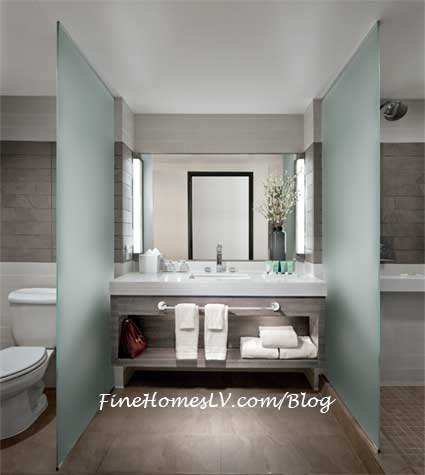 Palms ultra chic room remodel part of a 50 million for Las vegas bathroom remodeling companies