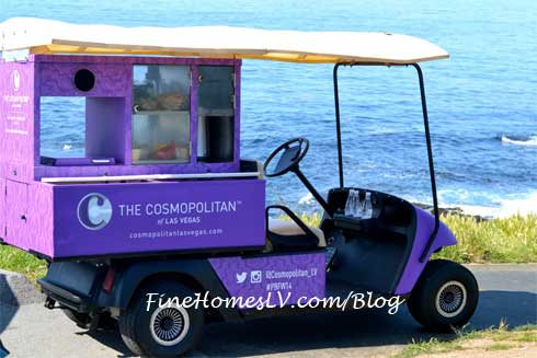 The Cosmopolitan Food Golf Cart