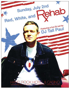 Red White and Rehab Hard Rock Hotel Las Vegas