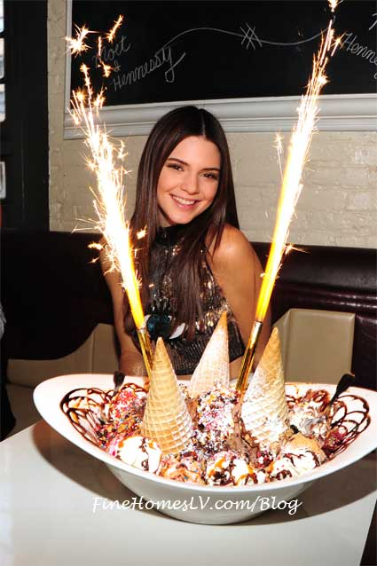 Kendall Jenner with King Kong Sundae