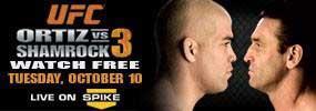 Shamrock Vs Ortiz In UFC SPIKE TV