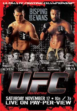 UFC 78 VALIDATION