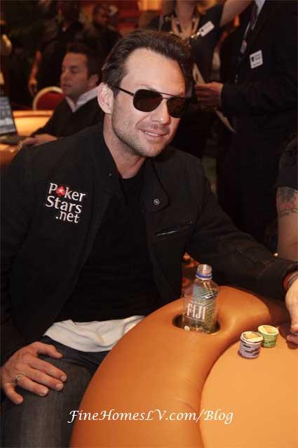 Christian Slater Playing Poker