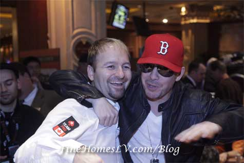 Daniel Negreanu and Donnie Wahlberg
