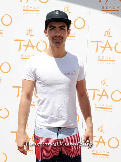 Joe Jonas at TAO Beach