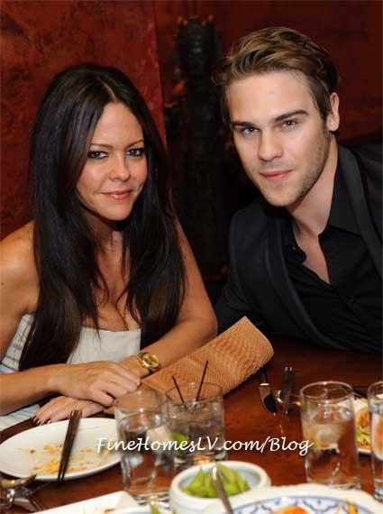 Allison Melnick and Grey Damon at TAO Las Vegas