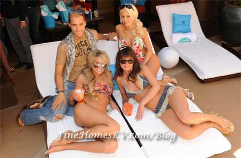 John Strickland, Holly Madison and Laura Croft