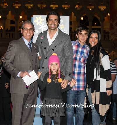John Caparella, Gilles Marini and Family