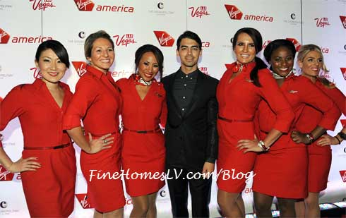 Joe Jonas and Virgin America