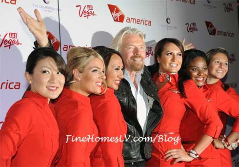 Richard Branson and Virgin America Attendants