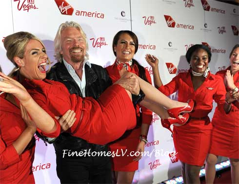 Richard Branson and Flight Attendants