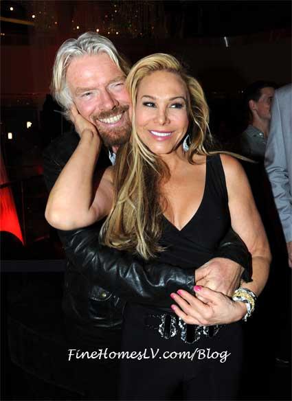 Richard Branson and Adrienne Maloof