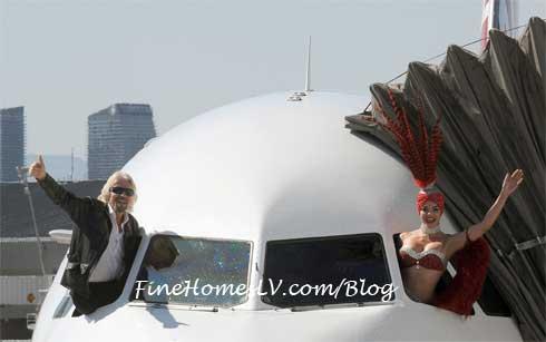 Richard Branson and Virign America Plane