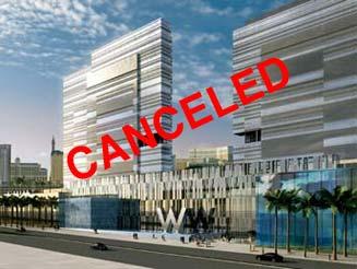W Las Vegas Canceled