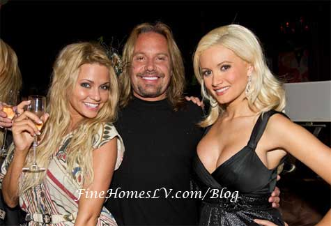 Angel Porrino, Vince Neil and Holly Madison