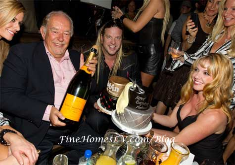 Robin Leach With Birthday Cake