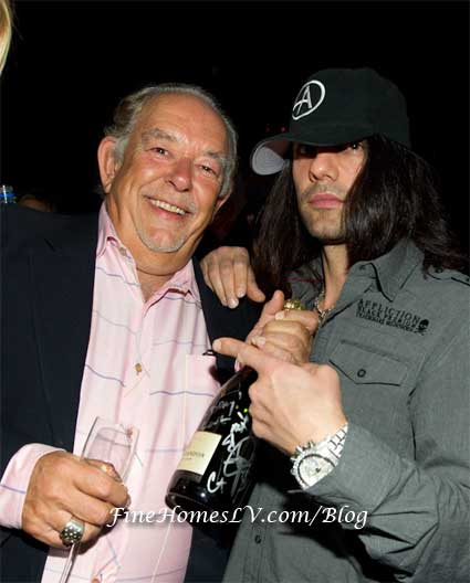 Robin Leach and Criss Angel